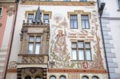 Thumbnail image of The Storch House on the Old Town Square with a design by Mikulas Ales showing St Wenceslas on horseb