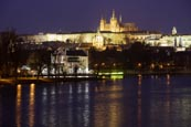 Thumbnail image of view of the Castle over the River Vlatva from the most Legií bridge, Prague, Czech Republic