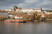 Thumbnail image of Prague Castle viewed over the Vlatva River by the Manesuv Most Bridge, Prague, Czech Republic