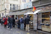 Thumbnail image of tourist stalls in the Jewish Quarter, Prague, Czech Republic