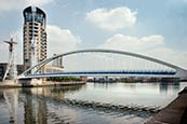 Thumbnail image of Salford Quays, The Lowry Footbridge, Manchester