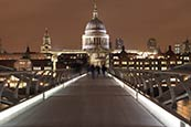Thumbnail image of St Pauls Cathedral and Millenium Bridge, London