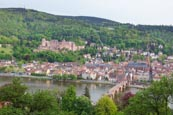 Thumbnail image of view over city with the castle, altstadt and River Neckar, Heidelberg, Baden-Württemberg, Germany