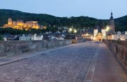 Thumbnail image of on the Alte Brucke with the Castle behind, Heidelberg, Baden-Württemberg, Germany