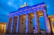 Thumbnail image of Brandenburg Gate at The Festival of Lights in Berlin, Germany, 2013