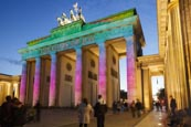 Thumbnail image of Brandenburg Gate at The Festival of Lights in Berlin, Germany, 2014