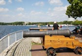 Thumbnail image of Greenwich Promenade with cannons,  a gift to Tegel from the London District Greenwich, Tegel, Berlin