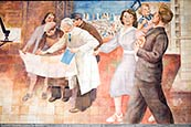 Thumbnail image of Mural - Aufbau der Republik by Max Lingner  on German Finance Ministry, Wilhelmstrasse, Berlin, Germ