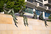 Thumbnail image of Sunbather statues by River Spree, Berlin, Germany