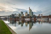 Thumbnail image of River Main with skyline, Frankfurt am Main, Hessen, Germany