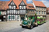 Thumbnail image of Schlossberg, Quedlinburg, Saxony-Anhalt, Germany - Klopstock House Museum & Bimmelbahn tourist train