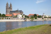 Thumbnail image of Magdeburg along the River Elbe from Cathedral to Kloster Unser Lieben Frauen, Saxony Anhalt, Germany