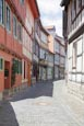 Thumbnail image of Rosenwinkel, a typical street in the Old Town with renovated timber frame houses, Halberstadt, Saxon
