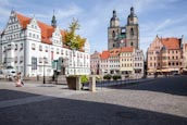 Thumbnail image of Market Place with Rathaus and Stadtkirche St. Marien, Lutherstadt Wittenberg, Saxony Anhalt, Germany