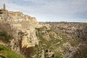 Thumbnail image of view over the town and Torrente Gravina, Matera, Basilicata, Italy