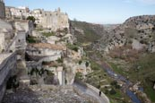 Thumbnail image of Torrente Gravina with town and Convent of Saint Agostino, Matera, Basilicata, Italy