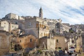Thumbnail image of From via Fiorentini looking up towards the cathedral, Matera, Basilicata, Italy