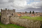 Thumbnail image of view over the city with guard tower, Pompeii, Campania, Italy