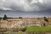 Thumbnail image of view over the city with the old city walls, Pompeii, Campania, Italy