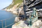 Thumbnail image of Bronze statue called Mother Earth by Scorzelli at Porto Venere, Liguria, Italy