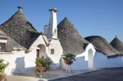 Thumbnail image of Typical trulli in the Aia Piccola  district in Alberobello, Puglia, Italy
