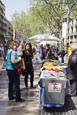 Thumbnail image of Catalan Independence stall on La Rambla, Barcelona, Catalonia, Spain