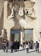 Thumbnail image of people entering the Sagrada Familia, Barcelona, Catalonia, Spain